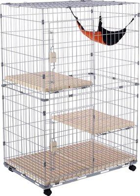 【李小貓之家】doter寵愛物語《雙開雙層貓籠-3尺》附貓籠專用吊床