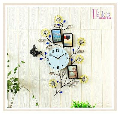 ☆[Hankaro]☆ 歐美流行創意鐵藝花邊造型相框時鐘