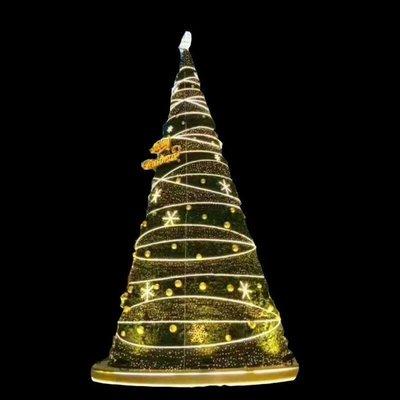 戶外琪利美大型聖誕樹套餐聖誕節裝飾室外5M6M8MLED聖誕樹燈定做