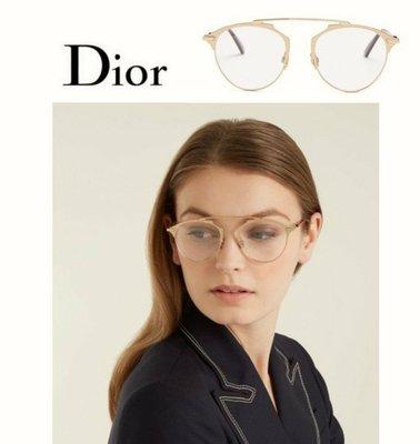 DIOR   ►( 金屬玫瑰金色 )貓眼框型 眼鏡 光學鏡框 中性款|100%全新正品|特價!