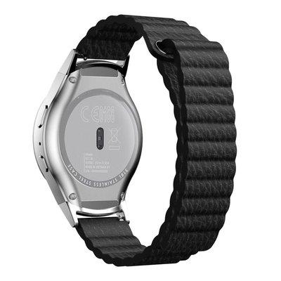 【現貨】ANCASE 三星Gear S2 R720 Gear A R730手錶真皮吸磁吸附錶帶R720回環錶盤