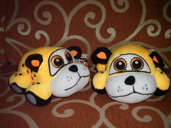 可愛娃娃  ~卡通~6吋 可愛的咘隆家族~黃色小汽車皮皮絨毛娃娃~~~含尾巴長約26公分