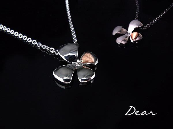 ◎【 Dear Jewelry 】◎ K or316白鋼-幸運草鑽石套鍊-免運