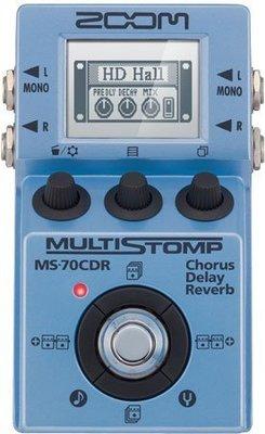 [ 反拍樂器 ] ZOOM Multi Stomp MS-70CDR (空間/MOD系效果器/免運費)