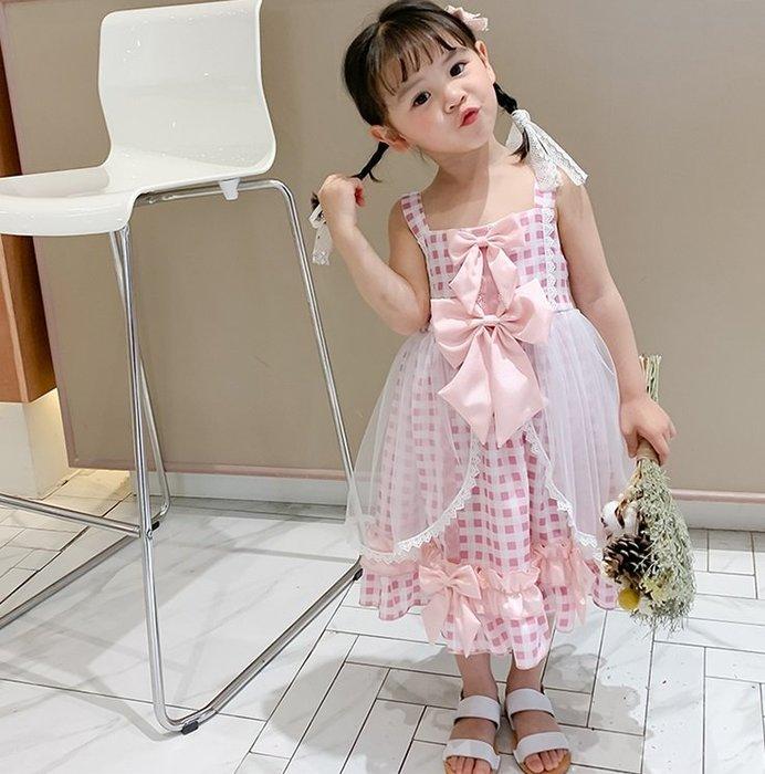 •*~ 辣媽咪衣飾小舖 ~*•❤童裝系列❤K070320韓版兒童夏款甜美夢幻夢蘿莉洛麗塔氣質公主裙洋裝