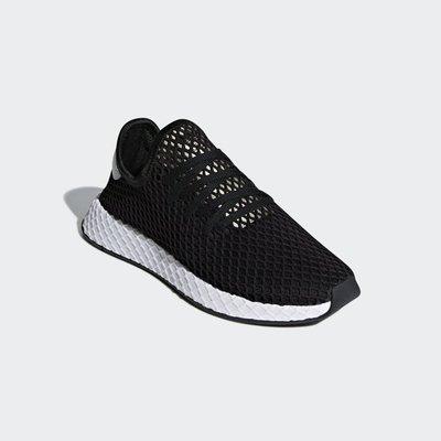 # Adidas Deerupt Runner 三葉草 黑灰 網眼 網布 運動鞋 男鞋 休閒 B41765 YTS