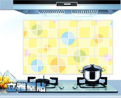 【立雅壁貼】鋁箔廚房防油貼.大尺寸45*75《圓圈AY3022》