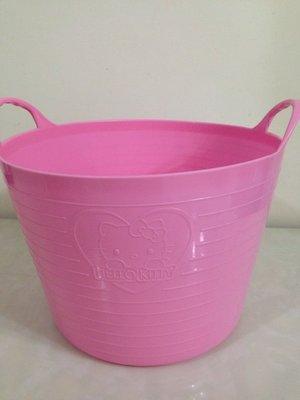東京家族 Hello Kitty洗衣籃/收納桶 粉紅色 現貨