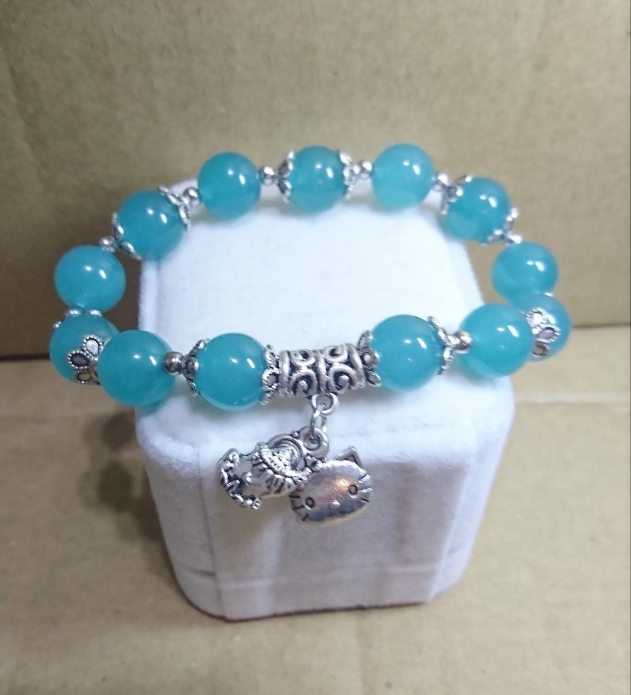 冰清天河石+藏銀貔貅+藏銀Kitty    助事業  招貴人 聚財力的能量寶石