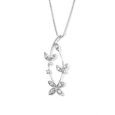 【JHT金宏總珠寶/GIA鑽石專賣】0.16克拉天然鑽石項鍊/材質:18K(JB4-B15)