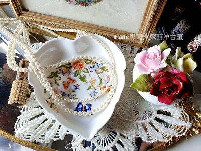 黑爾典藏西洋古董~英國Aynsley皇家花園愛心飾品盤/瓷盤/點心盤/瓷器/櫥窗擺飾/