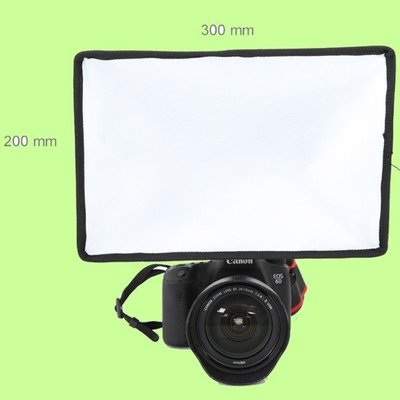 5Cgo【權宇】香港聯星通用型加強版 單眼相機閃光燈柔光箱 20*30cm 台灣布料可折疊柔光罩布 ESB2030 含稅