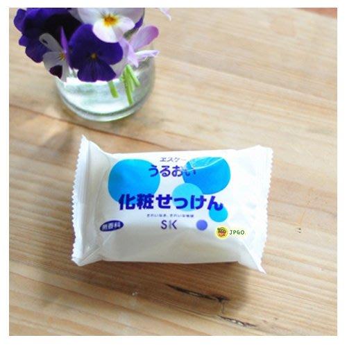 【JPGO】日本製 SK Soap 保濕洗臉皂.沐浴皂.香皂 100g~無香料#560