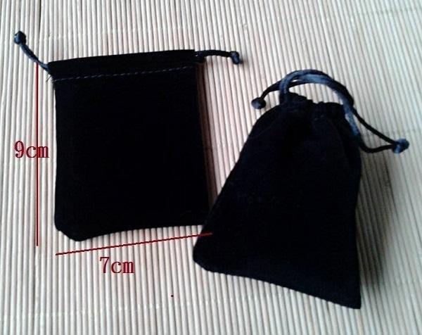 ☆創意特色專賣店☆首飾袋/飾品袋 /絨布袋/禮品包裝袋/束口袋(7*9cm黑色)/一個