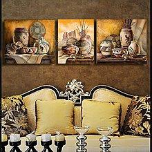 客廳裝飾畫三聯無框畫書房掛畫沙發背景牆畫咖啡酒吧壁飾金銀滿罐(3幅一組)