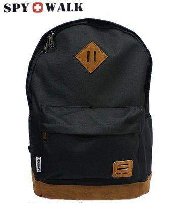SPYWALK 多功能休閒後背包 學生後背包  ( 89S9149 黑  )