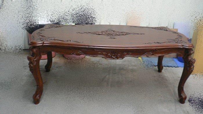 二手家具台中 樂居全新中古傢俱買賣 E201*庫存法式柚木餐桌*會議桌 洽談桌 戶外休閒桌 餐廳桌椅拍賣 咖啡桌 書桌