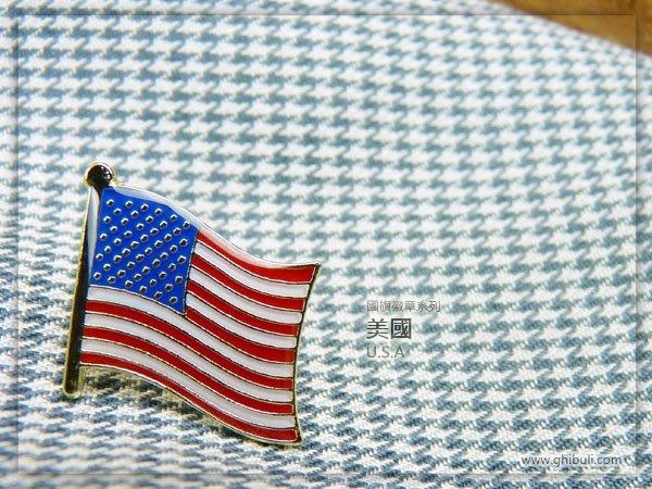 【衝浪小胖】美國旗徽章/胸章/勳章/別針/獎章/200國可選購蒐集