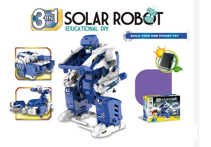 【好孩子福利社】太陽能三合一機器人 益智玩具 實驗玩具 DIY科學玩具套裝