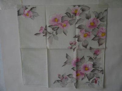 棉麻水墨畫手巾小方巾2