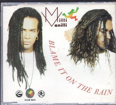 Milli Vanilli - Blame It On The Rain / Money 單曲CD(80歐舞) m20