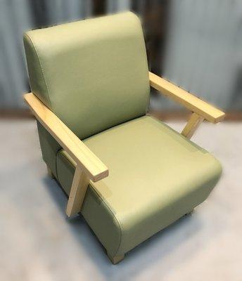 全新庫存家具賣場ZX1107CJ*全新綠色單人皮沙發 客廳桌椅*泡茶桌椅 庫存電視櫃 茶几 餐桌椅 臥室家具 北中南運送