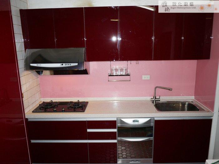 【雅格廚櫃】工廠直營~一字廚櫃、流理台、結晶鋼烤、落地碗機、不鏽鋼三用RO水龍頭
