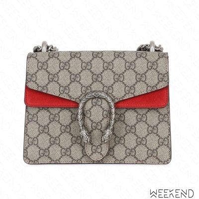【WEEKEND】 GUCCI Mini Dionysus GG Supreme 皮革  肩背包 紅色