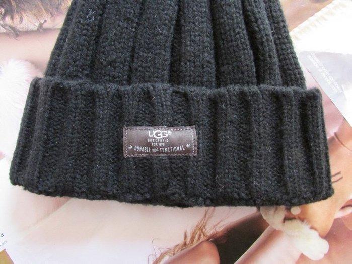 全新正品 UGG黑色保暖帽 S號