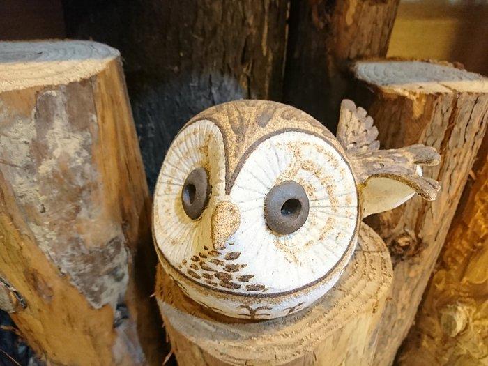 台灣貓頭鷹手捏陶,飛行大頭Q版,🌟最特別的禮物都在奧爾思🌟