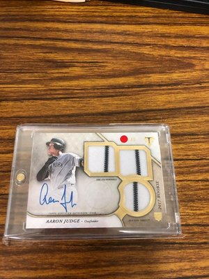 2017 Topps Redemption Triple Threads Aaron Judge RC 簽名