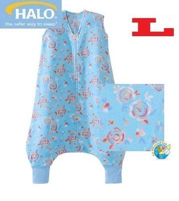 X.H. Baby【美國 HALO】SleepSack Early Walker 防踢被 背心 睡袋 秋冬刷毛 藍色花卉
