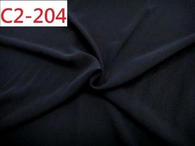 (特價10呎300元) 拼布零碼布【CANDY的家3館】精選布料 C2-204 ☆正韓黑色楊柳紋雪紡襯衫洋裝料☆