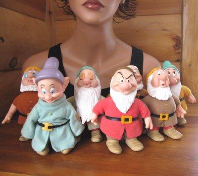 【戴大花2】1970年 Disney APPLAUSE 白雪公主 7小矮人 Seven Dwarfs 收藏款 #G97