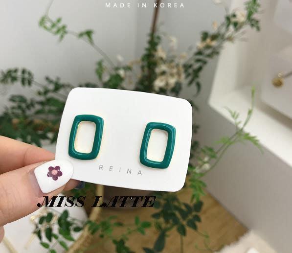 ✿拿鐵小姐MISS LATTE✿正韓✿韓國連線✿韓製 韓國東大門復古法式氣質鏤空糖果色簡約耳環