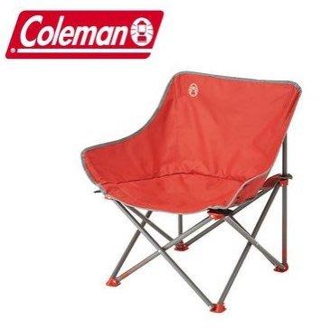 【山野賣客】美國Coleman CM-21990 輕鬆椅(紅) 休閒椅 露營椅 折疊椅 盤腿椅 月亮椅