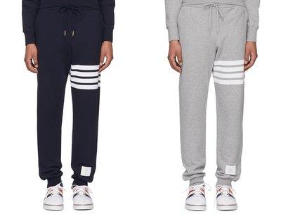 [全新真品代購-SALE!] THOM BROWNE 經典款 4條白線 棉褲 / 長褲 (條紋) 棉圈