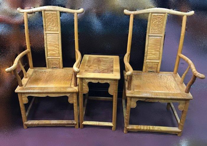 宏品二手家具~中古家具 仿古家具 全新-R1110金絲楠木公婆椅*實木桌椅 休閒椅 泡茶桌椅 書桌椅 辦公桌椅 會議桌椅