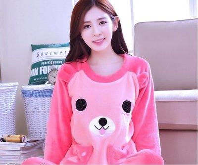 FuNFang_韓版珊瑚绒冬季睡衣@加厚甜美套装_可愛熊《#5022》