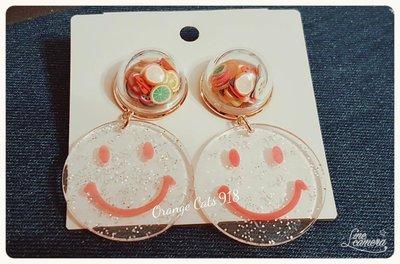 韓。飾品 熱帶水果跟與微笑先生 針式耳環