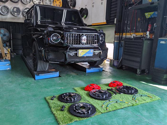 JK Racing 精品 BENZ G500 安裝 JK (後) 加大碟 380mm 可選 (劃線/打洞) 碟盤