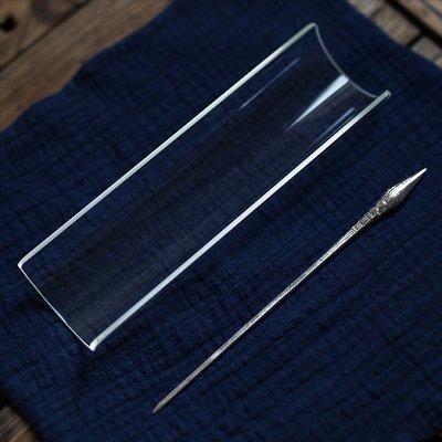 中式茶具 配件工具 高硼硅透明玻璃茶則 茶道具零配 賞茶荷茶勺茶匙分茶器 茶巾托墊