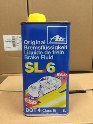 【油品味】Ate SL.6 DOT4 Brake Fluid ESP 電子車身穩定系統專用煞車油