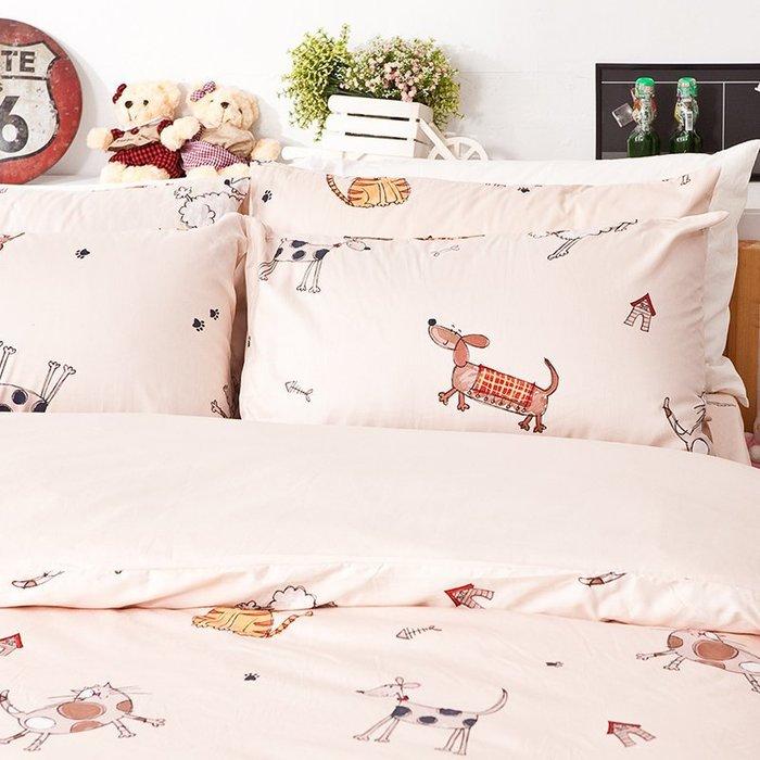 床包被套組 / 單人【可愛家族】含一枕套,100%精梳棉,戀家小舖P01-AAS112