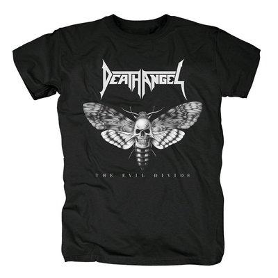 Death Angel搖滾樂隊男士短袖重金屬The Evil Divide專輯封面T恤