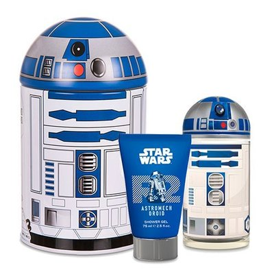 ☆MOMO小屋☆ STAR WARS 星際大戰 R2-D2 男香禮盒 (淡香水50ml+沐浴膠75ml)