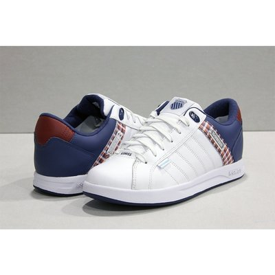 【RTG】K-SWISS LUNDAHL WP 白色 復古 防水 五線譜 皮革 格紋 休閒 男鞋 06100-175