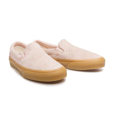 CHIEF' VANS 美版 SLIP-ON 粉紅色 絨布 麂皮 膠底 咖啡底 懶人鞋 US4.5~7.5 女