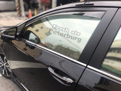 比德堡崁入式晴雨窗 豐田TOYOTA  Corolla Altis 2013-2018年  (全車四片價)