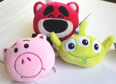 【卡漫迷】 玩具總動員 玩偶 吊飾 三選一 ㊣版 toy story 鑰匙圈 絨毛娃娃 掛飾 熊抱哥 三眼怪 火腿豬